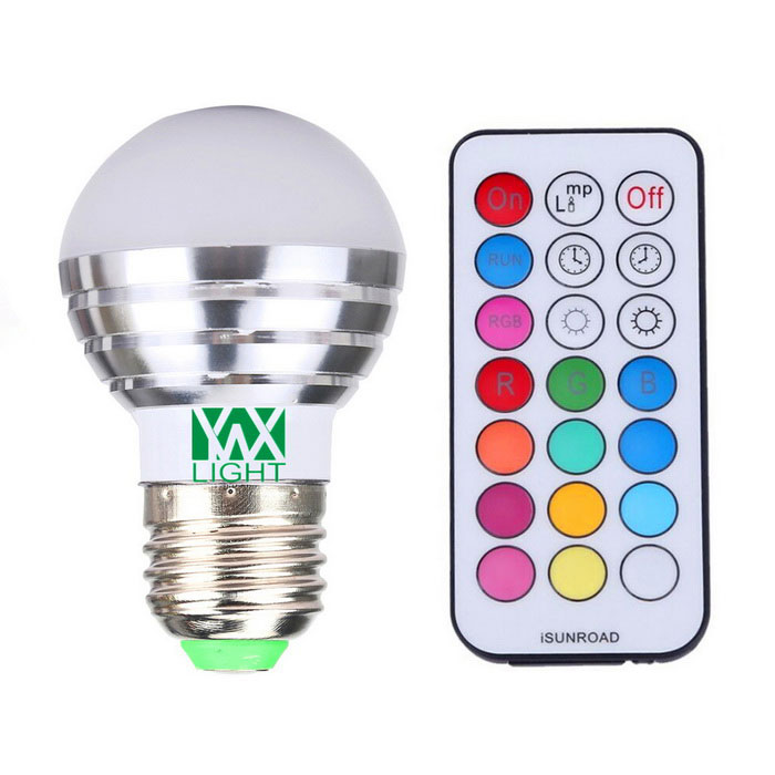 YWXLight E27 5W RGB + White Light 4-2835 SMD LED Globe Bulb