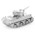 3D Stereo Puzzle Sherman Tank Spielzeug - Silber