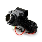 CS-214B1 Waterproof Cigarette Lighter / USB Car Charger - Black