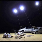 12V 70W 7500~8000lm LED Cold White Camping Lamp - Silver + Black