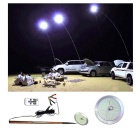 12V 70W 7500~8000lm 244-LED Cold White Camping Lamp - Silver + Green