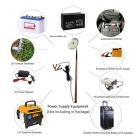 12V 70W 7500~8000lm244- LED Cool White Camping Lamp - Silver + Coffee