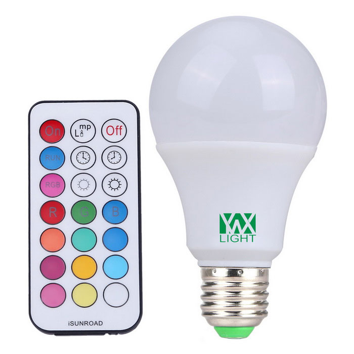 Ywxlight E27 10W RGBW 12-2835 SMD 800lm ampoule globe LED