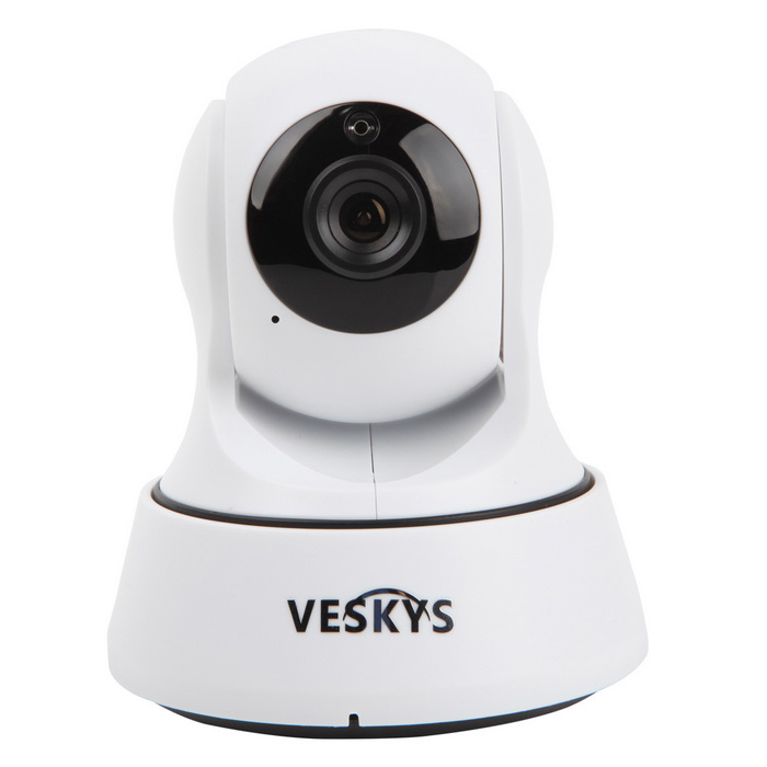 VESKYS 1.0MP HD Wi-Fi Security Surveillance IP Camera w/ Night Vision