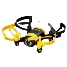 JXD 512 4CH 6-Axis Mini RC Quadcopter w/ 0.3MP Camera - Black + Yellow