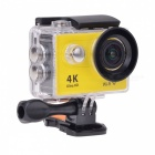 H9R Waterproof Wide Angle 4K Sports Camera w/ Remote Control - Yellow