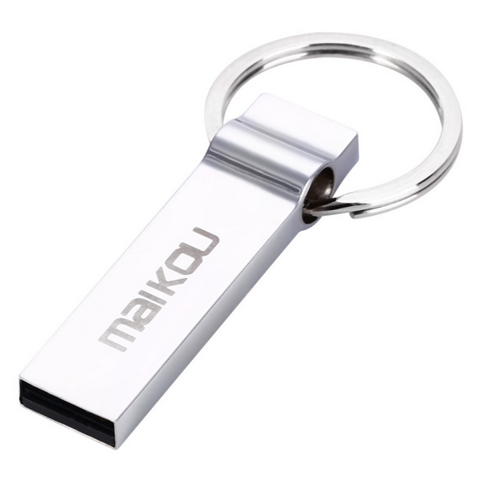Maikou MK2002 Portable 64GB USB 2.0 Flash Drive Disk - Silver