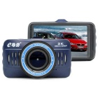 "eDaoYou a103 3"" HD 1920 * 1080P 2.0MP 170' Wide Angle Car DVR - Blue"