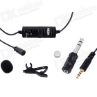 BY-M1 Collar Clip Condenser Microphone - Black