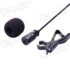 BOYA BY-LM20 Collar Clip Microphone for Gopro Hero 3+ / 4 - Black