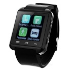 Bluetooth GSM Smart Wrist Watch Phone Update from U8 - Black