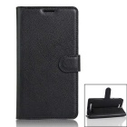 Protective Leather PU Caso Full Body w / slot para cartão de Cubot H2 - Black