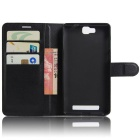 Protective PU Leather Full Body Case w/ Card Slot for Cubot H2 - Black