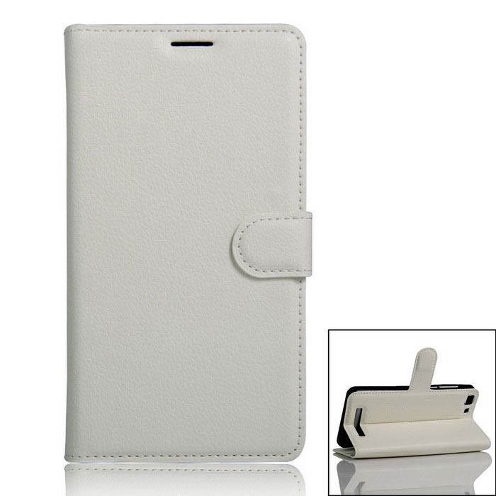 Protective PU Full Body Case w/ Card Slot for Cubot Rainbow  - White