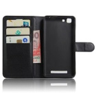 Protective PU Full Body Case w/ Card Slot for Cubot Rainbow - Black
