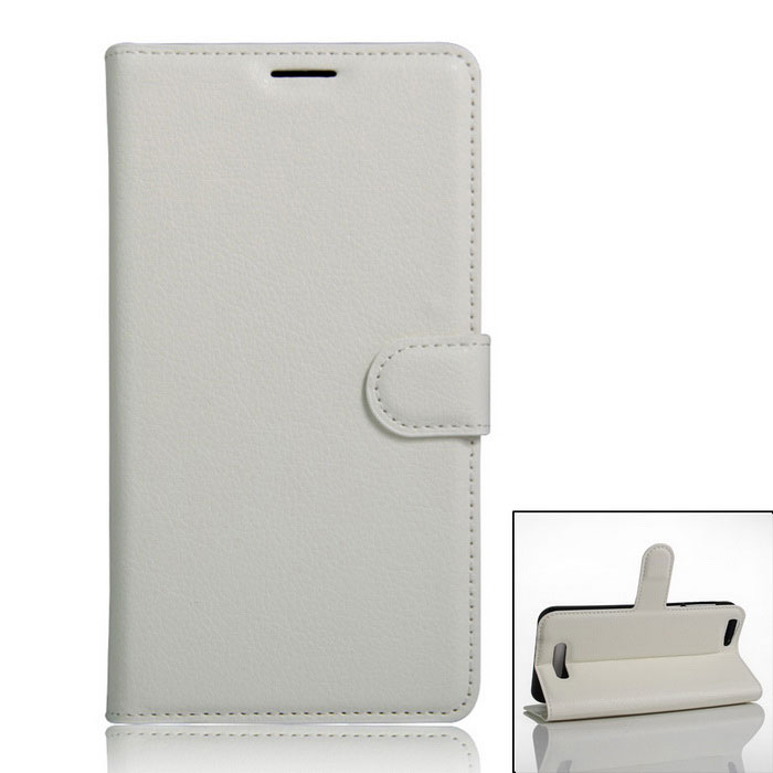 Protective PU Full Body Case w/ Card Slot for Cubot Note S - White