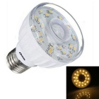 E27 3W PIR Infrared Motion Sensor 23-LED Light Bulb Lamp Warm White
