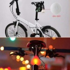 YouOKLight Silicone Cycling Bike Rear Warning Light 3-Mode Red Light