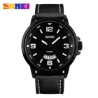 SKMEI 9115 Men's 50 Meters Waterproof Calendar Quartz Watch - Black