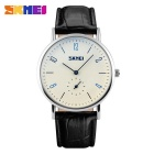 SKMEI 9120 Men's 50 Meters Waterproof Calendar Quartz Watch - Black