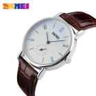 SKMEI 9120 Men's 50 Meters Waterproof Calendar Quartz Watch - Coffee