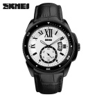 SKMEI 1135 Men's 30 Meters Waterproof Calendar Quartz Watch - Balck