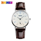 SKMEI 9120 Women's 50 Meters Waterproof Calendar Quartz Watch - Coffee