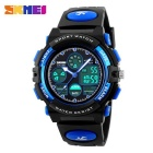 Unisex Double Japan Movement Analog + Digital Display Plastic Case PU Resin Band Wrist Watch
