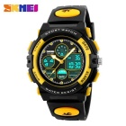 SKMEI 1163 50M Waterproof Multifunction Sport Watch - Yellow + Black