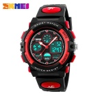 SKMEI 1163 50M Waterproof Multifunction Sport Watch - Red + Black