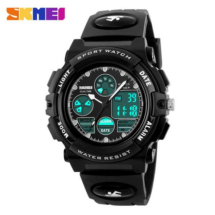 SKMEI 1163 50m Waterproof Multifunction Sports Watch - Black
