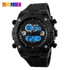 SKMEI 1156 50M Waterproof Multifunction Sports Watch - Black
