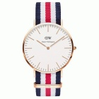 Daniel Wellington Miesten 0102DW Rose Gold-Tone Watch Nylon Band