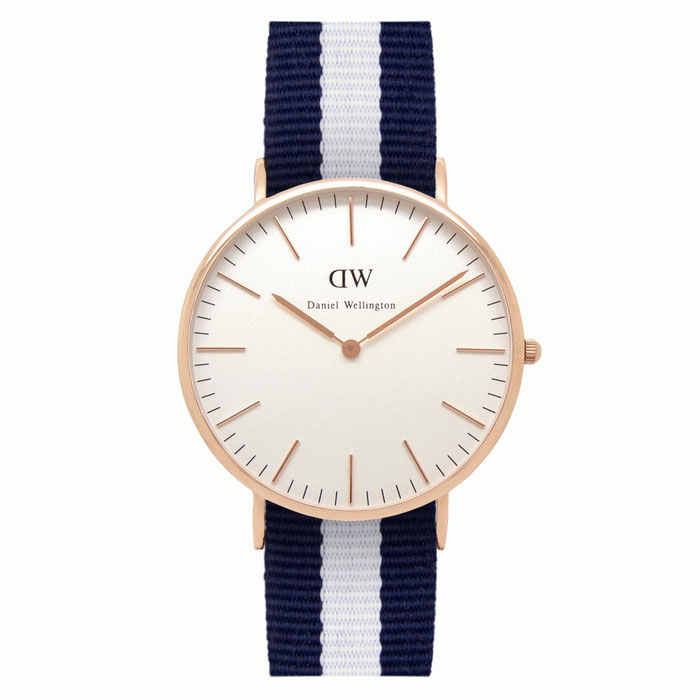 Daniel Wellington Miesten 0104DW Rose Gold-Tone Watch Nylon Band