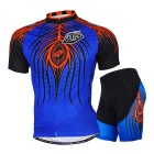 Outdoor Sports Mountain Bike Ciclo Corrida Árvore Pattern Polyester Vestindo terno - Azul (M)