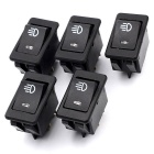 12VWUPP Modificado Chave carro neblina Luz w / Switches LED Rocker - preto