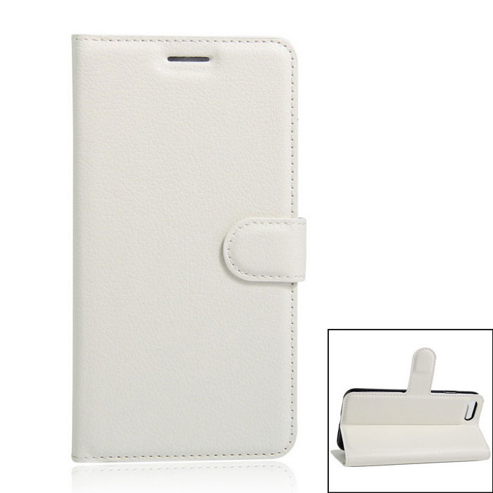 Flip Open PU Leather Wallet Case w/ Card Slots for iPhone 7 - White