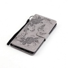 BLCR Butterfly Pattern Protective Case for Huawei P9 Lite - Gray