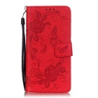 BLCR Butterfly Pattern Protective Case for Huawei P9 Lite - Red