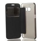 Protective Leather + ABS Case for Samsung GALAXY S7 - Black