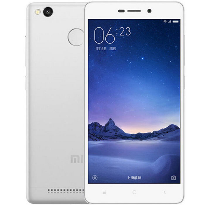 Xiaomi Redmi 3s Android 5.1 4G Phone w/ 3GB RAM, 32GB ROM - SilverAndroid Phones<br>Form  ColorWhite + transparentRAM3GBROM32GBBrandXiaomiModelRedmi 3sQuantity1 DX.PCM.Model.AttributeModel.UnitMaterialMetalShade Of ColorSilverTypeBrand NewPower AdapterUS PlugHousing Case MaterialMetalTime of Release2016-6Network Type2G,3G,4GBand Details2G: GSM B2/3/5/8 3G: CDMA EVDO BC0 3G: WCDMA B1/2/5/8 3G: TD-SCDMA B34/39 4G: TD-LTE B38/39/40/41 4G: FDD-LTE B1/3/Data TransferGPRS,HSDPANetwork ConversationOne-Party Conversation OnlyWLAN Wi-Fi 802.11 b,g,nSIM Card TypeMicro SIM,Nano SIMSIM Card Quantity2Network StandbyDual Network StandbyGPSYesNFCNoInfrared PortNoBluetooth VersionBluetooth V4.0Operating SystemAndroid 5.1CPU ProcessorSnapdragon 430 octa-core processor 4*1.4GHz + 4*1.1GHzCPU Core QuantityOcta-CoreLanguageSimplified Chinese, Traditional Chinese, German, Indonesian, Malay, English, Spanish, French, Italian, Hungarian, Dutch, Portuguese, Romanian, Vietnamese, Russian, Turkish, Greek, Hebrew, Arabic, Thai, KoreanGPUHigh-performance Adreno 505 graphics processorAvailable Memory23.5GBMemory CardYesMax. Expansion Supported128GBSize Range5.0~5.4 inchesTouch Screen TypeCapacitive ScreenScreen Resolution1280*720Multitouch10Screen Size ( inches)5.0Screen Edge2D Curved EdgeCamera Pixel13.0MPFront Camera Pixels5.0 DX.PCM.Model.AttributeModel.UnitVideo Recording Resolution1080PFlashYesAuto FocusYesTouch FocusYesOther Camera Functions5 lens, f / 2.0 aperture; <br>As fast as 0.1 seconds PDAF phase focusing; <br>Panorama mode, a level, HDR mode, scene mode,<br>Countdown, manual mode; <br>Support Full HD 1080p FHD videoOther Camera Features5 lens, f / 2.0 aperture; <br>As fast as 0.1 seconds PDAF phase focusing; <br>Panorama mode, a level, HDR mode, scene mode,<br>Countdown, manual mode; <br>Support Full HD 1080p FHD video...Talk Time20 DX.PCM.Model.AttributeModel.UnitStandby Time36 DX.PCM.Model.AttributeModel.UnitBattery Capacity4100 DX.PCM.Model.AttributeModel.UnitBattery ModeNon-removablefeaturesWi-Fi,GPS,FMSensorG-sensor,Proximity,Compass,Fingerprint authentication sensorWaterproof LevelIPX0 (Not Protected)Shock-proofNoI/O InterfaceMicro USB v2.0SoftwareGoogle payFormat SupportedMP4  /  M4V  /  MKV  /  XVID  /  ASF  /  PCM  /  AAC  /  AAC+  /  eAAC+  /  MIDI  /  MP3  /  AC3  /  FLAC  /  MPEG- 4 / H.264 / H.263 / DivX / MPEG2 / VC1 / Soreson / VP8JAVANoTV TunerNoRadio TunerFMWireless ChargingNoPacking List1 * Cellphone1 * Data cable (90cm)1 * US plug power adapter (100~240V)<br>