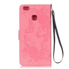 BLCR Butterfly Pattern Protective Case for Huawei P9 Lite - Pink