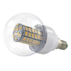 E27 6W 69-5730 SMD 600lm 3000K Warm White LED Bulb (AC/DC 10~60V)