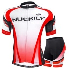 Cyclisme NUCKILY Red / XL Eté manches courtes Jersey Shorts Set for Men