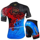 NUCKILY blue/XL Cool Summer Men's Short Sleeve Shorts Cycling Jersey