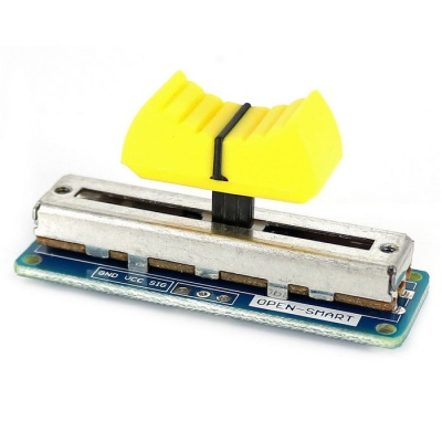 Slide Potentiometer Sensor Module Volume Control for Arduino - Yellow