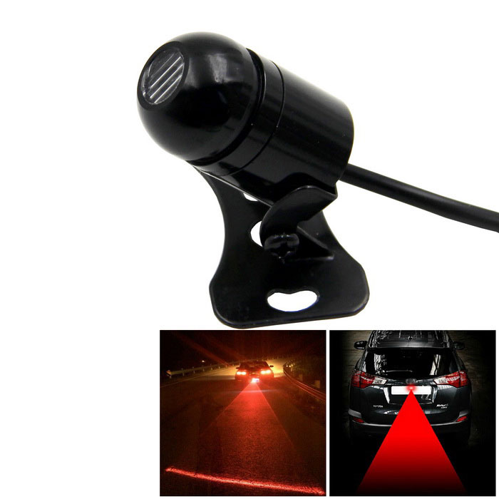 hr-AC001 200MW 650nm Anticollision Laser Luz Vermelha Car Fog Bulbo-Preto