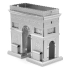 3D Triumphal Arch Style Puzzle Toy - Silver