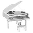 3D Metal Puzzle Piano Model Toy - Silver