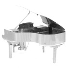 Metal 3D puzzle Piano Toy Model - prata